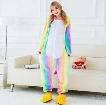 Onesie Unicorn Tenma Adults Flannel Pyjama Suits Cosplay Costumes Garment Cartoon Animal Onesies Pajamas Sleepwear