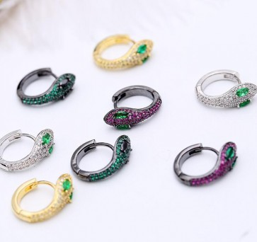 2018 New  Serpentine personality stud earrings for women jewelry