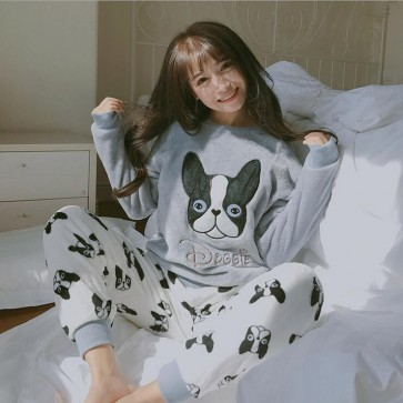Flannel Pyjama  Costumes Garment Cartoon Animal Onesies Pajamas Sleepwear