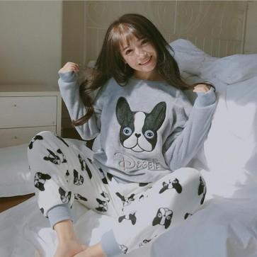 Flannel Pyjama  Costumes Garment Cartoon Animal Onesies Pajamas Sleepwear
