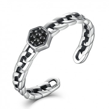 2017 Authent 100% Sterling Silver 925 Sky Stars Open Rings Free Size Band Cuff Adjustable Ring Women&Lady Fine Jewelry LY031