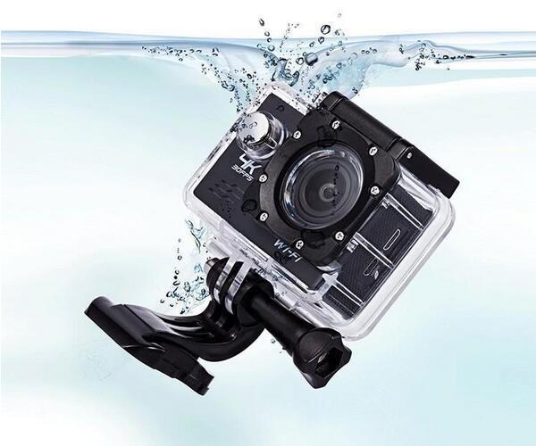 Action Camera 2 inch 170D Wifi 30M Underwater Camera Helmet Cam Go ...