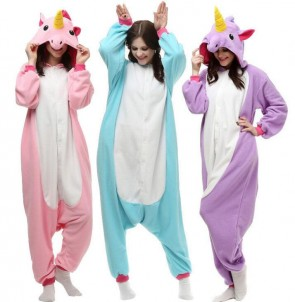 Onesie Unicorn Tenma Adults Flannel Pyjama Suits Cosplay Costumes Garment Cartoon Animal Onesies Pajamas Sleepwear