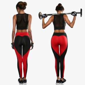 Women's Heart-shaped Leggings   Yoga Gym Fitted Pants Running Pants