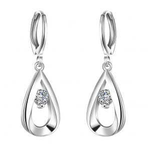 High quality New Fashion Zirconia Earrings For Women Silver Earrings Fine Jewelry Water droplets