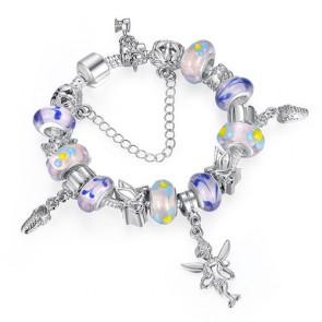 925 Silver Charm Fit Pandora Bracleet & Bangles Multicolor Murano Glass PA1178