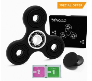 Tri Fidget Spinner Hand EDC Finger Spinner Toy Stress Reducer with Premier Ceramic Bearing For ADD, ADHD, Anxiety, and Adult Children
